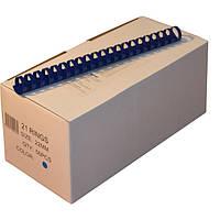 Пружины пластиковые 22 мм синие, 50 шт/уп., 160-190 листов.
