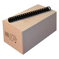 Пружины пластиковые 22 мм чёрные, 50 шт/уп., 160-190 листов.