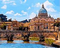 Картина для рисования по номерам Мост Ангелов Рим