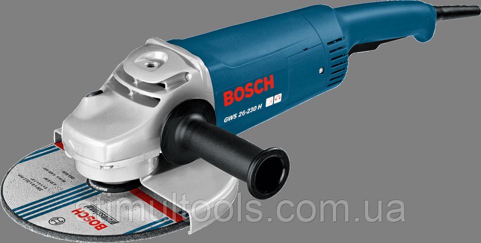 Угловая шлифмашина (болгарка) Bosch Professional GWS 26-230 H