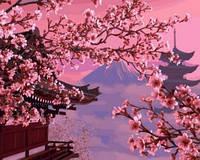 Картина для рисования по номерам Японский пейзаж