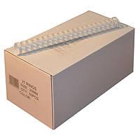 Пружины пластиковые 25 мм белые, 50 шт/уп., 190-220 листов.