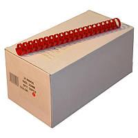Пружины пластиковые 25 мм красные, 50 шт/уп., 190-220 листов.