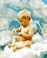 Картина для рисования по номерам Ангел в облаках худ Грошев Слава