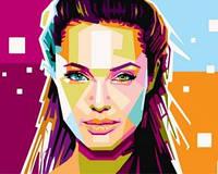 Картина для рисования по номерам Анжелина Джоли