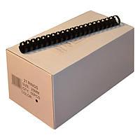 Пружины пластиковые 25 мм чёрные, 50 шт/уп., 190-220 листов.