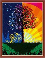 Картина для рисования по номерам Дерево счастья