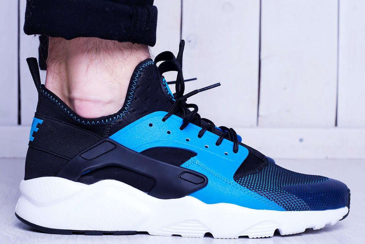 140f21e5 Мужские кроссовки Nike Air Huarache Ultra Blue топ реплика -  Интернет-магазин обуви и одежды
