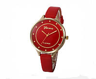 Женские часы красного цвета Geneva (154)