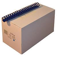 Пружины пластиковые 28 мм синие, 50 шт/уп., 220-240 листов.