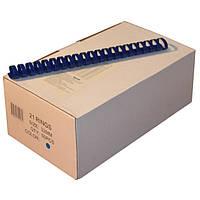 Пружины пластиковые 32 мм синие, 50 шт/уп., 240-280 листов.