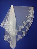 Свадебная фата с компьютерной вышивкой № 5 (Ф-КВ-Оп-5)