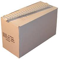 Пружины пластиковые 38 мм белые, 50 шт/уп., 280-340 листов.