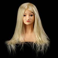 Учебный манекен Camille с плечами, 30% натуральных волос, blonde, фото 1