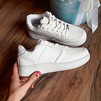 Женские кроссовки Nike air force white /белые  реплика