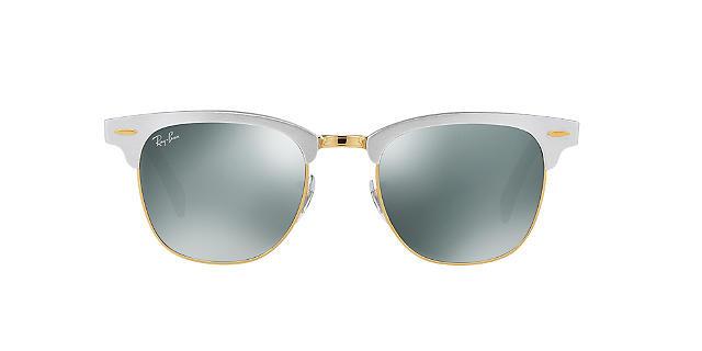 Солнцезащитные очки Ray-Ban CLUBMASTER ALUMINUM MIRROR COLLECTION SILVER/GREY RB3507 51