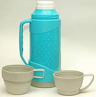 Термос 1л + 2 чашки