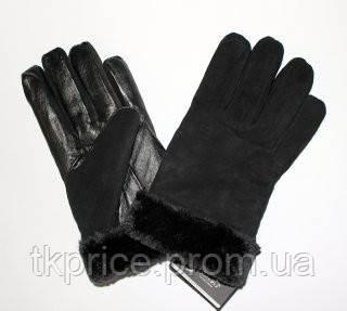 Мужские замшевые перчатки с кожаной ладошкой