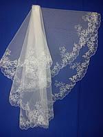 Свадебная фата с компьютерной вышивкой № 10 (Ф-КВ-Оп-10) Опт