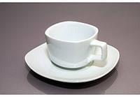 Чашка с блюдцем квадратная (180мл) F1011+F1011-4 AltPorcelain