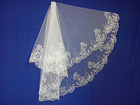 Свадебная фата с компьютерной вышивкой № 11 (Ф-КВ-Оп-11) Оптом
