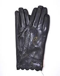 Женские кожаные зимние перчатки на меху кролика