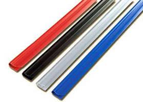 Планки зажим - 6мм, черная, уп/100 шт.