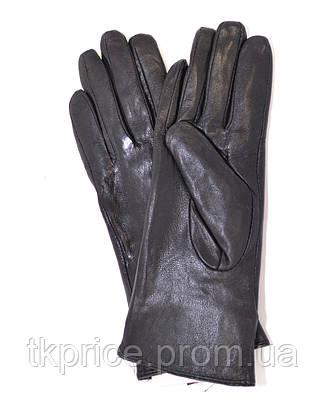 Женские кожаные зимние перчатки на меху кролика, фото 2