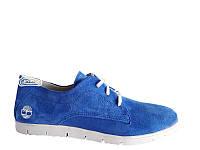 Женские замшевые туфли голубого цвета