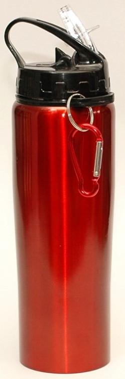 Туристический термос- бутылка с трубочкой и крючком 0,500л