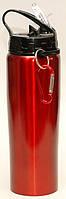 Туристичний термос - пляшка з трубочкою і гачком 0,500 л