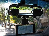 Держатель телефона навигатора автомобильный на зеркало заднего вида