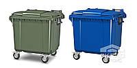 Передвижной мусорный контейнер 1100 л с крышкой