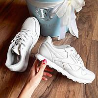 Белые женские кроссовки  Reebok classiс / Рибок классик код 115
