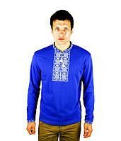 Мужская вышитая футболка крестиком «Ромбы», фото 1