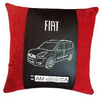 Авто подушка сувенир  с вышивкой силуэта машины подарок в машину