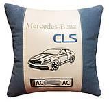 Автомобільна подушка сувенір з вишивкою силуету машини в подарунок машину, фото 4