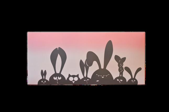 """Керамический дизайнерский обогреватель """"Трусишки-зайки"""" (розовая), фото 2"""