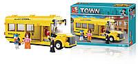 """Конструктор Sluban TOWN М38-В0507 """" Школьный автобус """" 219 дет."""
