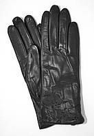 ТОП Женские кожаные перчатки (лайка) на плюше
