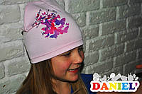 Детские шапки весна осень. Французский трикотаж.