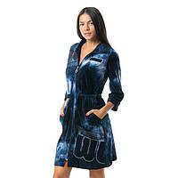 Модный молодёжный велюровый халат-варёнка