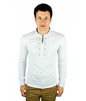 Мужская вышитая футболка крестиком «Ромбы» , фото 1