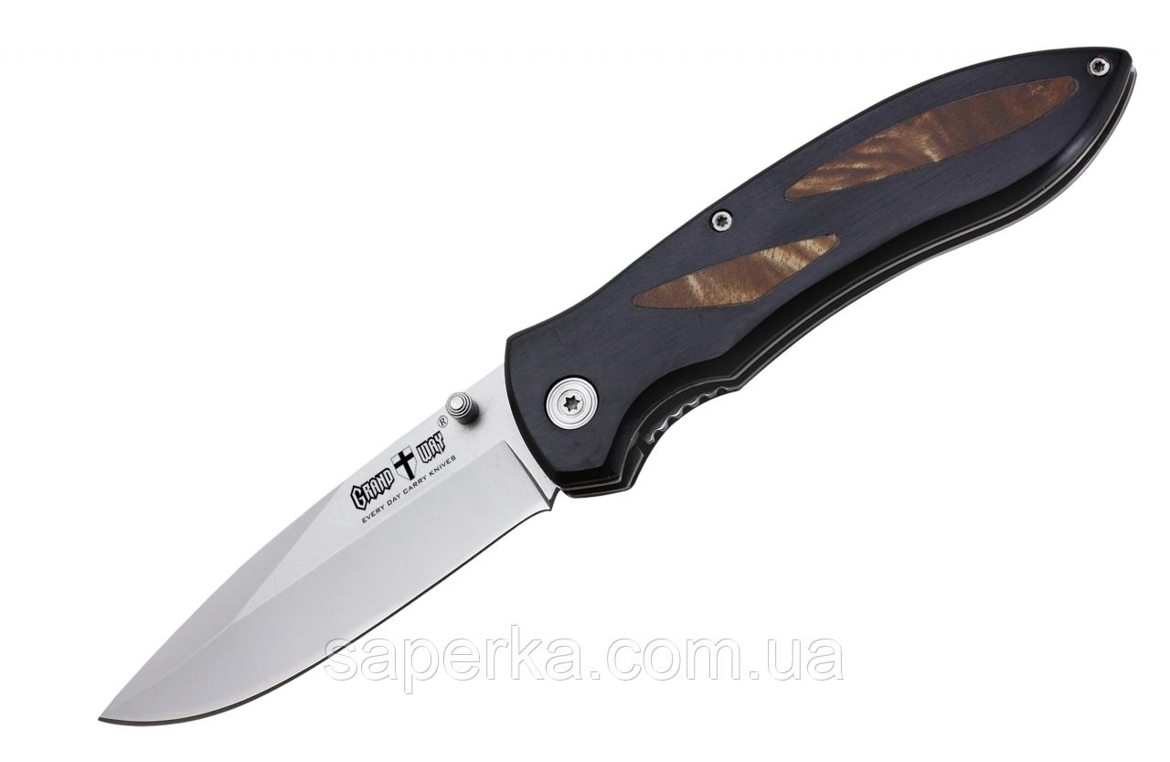 Нож складной туристический с фальшлезвием Grand Way E-20