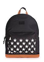 Рюкзак из ткани POOLPARTY звезда черный