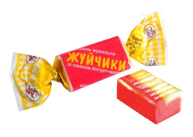 Цукерки Жуйчики зі смаком йогур-малина 3,5 кг. ТМ Домінік