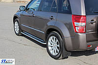 Suzuki Grand Vitara боковые пороги Премиум 51мм
