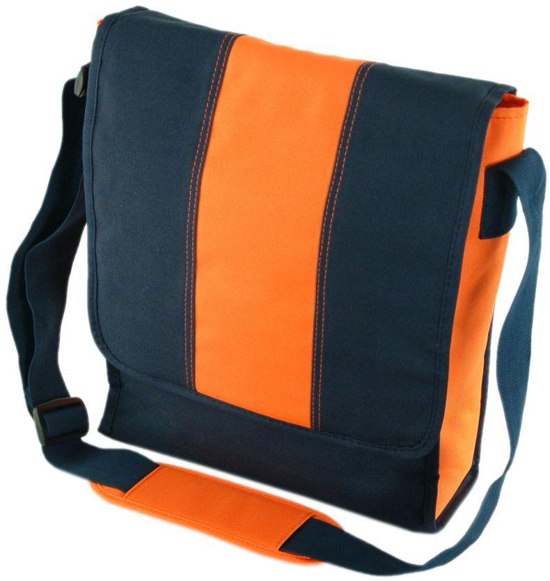 Наплічна сумка Traum синій з помаранчевим
