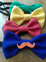 Бабочка-галстук тканевая одинарная с декоративными элементами