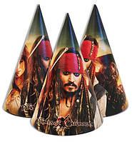 """Колпачки, колпаки праздничные, маленькие """"Пираты карибского моря"""", 10 шт/уп."""